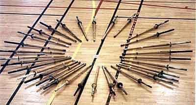 Sabres en bambou