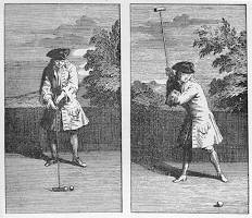 Lord Edward jouant au golf